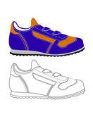 Zapatos de los deportes — Vector de stock