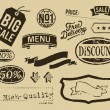 Vintage sale graphic elements set — Stock Vector