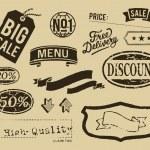 Vintage sale graphic elements set — Stock Vector #29506721