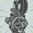 Vintage video camera — Stock Vector