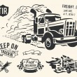 Vintage truck delivery theme — Stock Vector