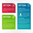 ABC vector colorful option banners — Stock Vector