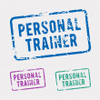 Personal trainer rubber stamp — Stock Vector