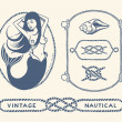 Vintage nautical set — Stock Vector #45356525