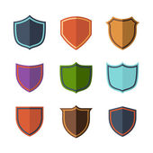 Crests flat design set over white background — Stockvector