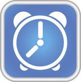 Icône de l'horloge, le symbole. — Vecteur