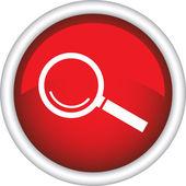 Placa redonda com lupa — Vetor de Stock