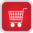 Icon showing basket — Wektor stockowy #26972555