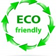 Eco friendly recycle vector symbol — Stock Vector