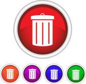 Symbol, icon, trash — Stock Vector