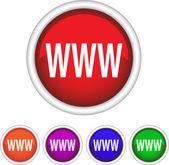 Round icon, WWW, symbol — Stock Vector