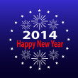 2014, new year, vector — Stockvektor