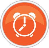 Icon, the clock, a symbol, an alarm clock. — Stock Vector