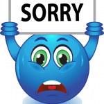 Постер, плакат: Blue smiley apologizes