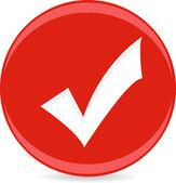 Vector Check Button — Stock Vector