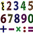 Vector set of numbers. — Vettoriali Stock