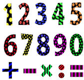 Vector set of numbers. — Stock Vector