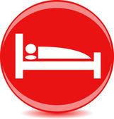 Round sign, symbol, leisure — Stock Vector