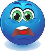 Smiley upset. — Stock Vector
