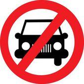 No car vector sign — Stock Vector