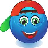 Smiley cap. — Stock Vector