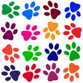 Colorful animal tracks — Vettoriale Stock