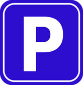 Vector cars parking sign — Stock Vector