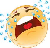 Smiley qui pleure. émotions — Vecteur