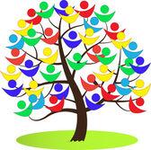 Wektor drzewo, symbol pokoju. — Wektor stockowy
