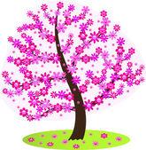 Flowering tree — Stock Vector