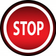 red button with the word STOP — Imagen vectorial