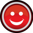 Smile red circle icon — Stock Vector