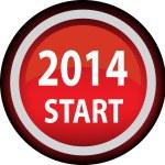 Year 2014 icon — Stock Vector
