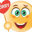 Smile apologizes — Stock Vector