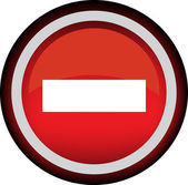 No Entry Traffic Sign — Stock Vector
