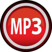 Okrągły wektor ikona jako mp3 — Wektor stockowy