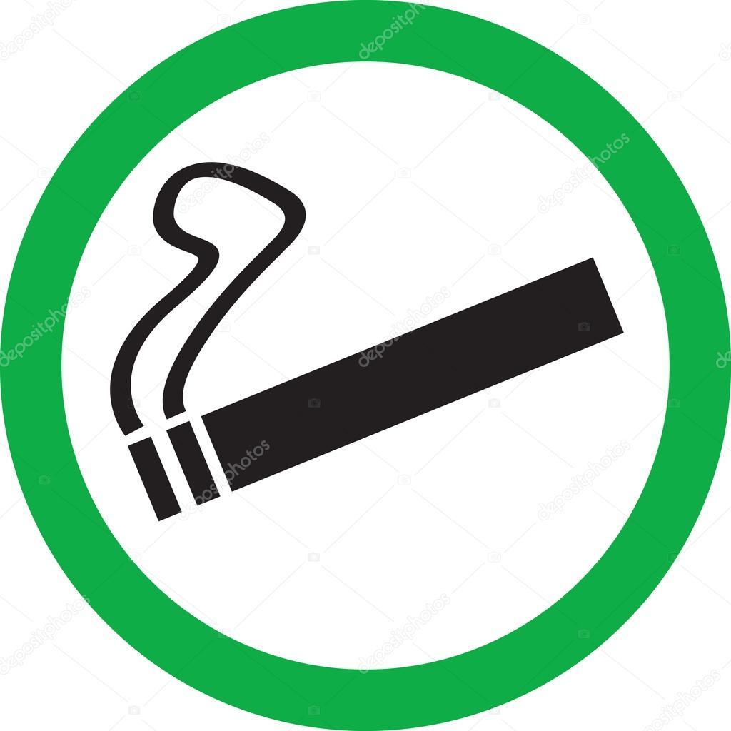Плакат место для курения