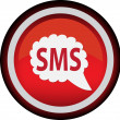Stock Vector: Vector round icon sms