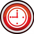Round vector clock icon — Stok Vektör #38858443