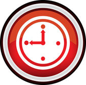 Round vector clock icon — Stock Vector