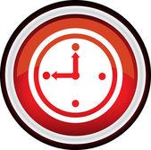 Round vector clock icon — Stok Vektör
