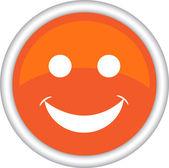Big smile emoticon — Stock Vector