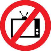 Kein tv-zeichen — Stockvektor