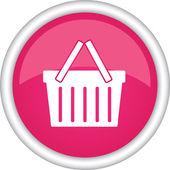 Icon with a shopping cart — Vector de stock