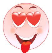 Smiley in Love — Stock Vector