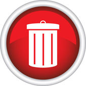 Picture of a trash can — Stock Vector
