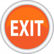 Vector icon EXIT — Stock Vector