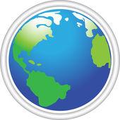 Icon globe — Stock Vector