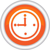 Sign with clock image — Vector de stock