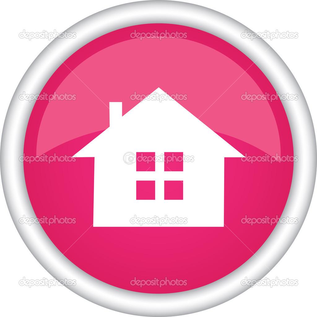 圆矢量图标房子